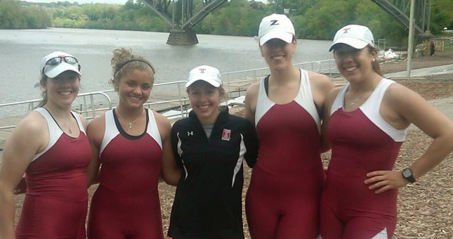 Women's Varsity 4 Victorious at Bergen Cup