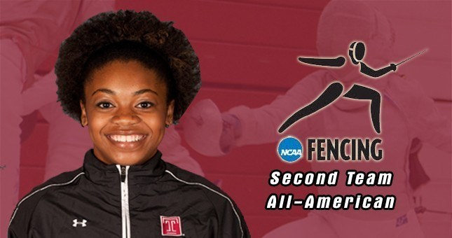 Kamali Thompson Finishes Career as All-American, Leads Temple Fencing Team to a 10th Place Finish at NCAA Championships