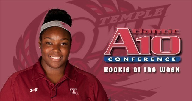 Britton's Penn Relays Shot Put Mark Earns Her A-10 Rookie of the Week Again