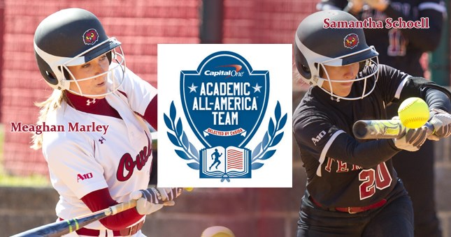 Meaghan Marley and Samantha Schoell Named to Capital One Academic All-District 2 University Division First Team