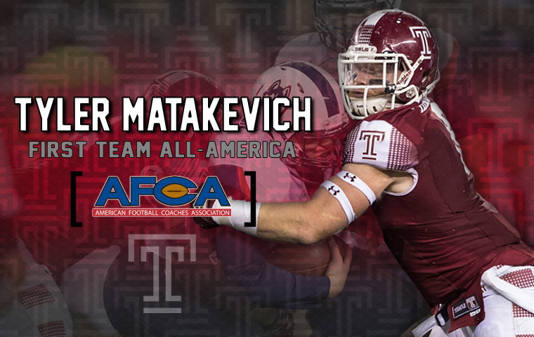 001274a4eb0 Matakevich Adds AFCA First Team All-America Honors - Temple ...