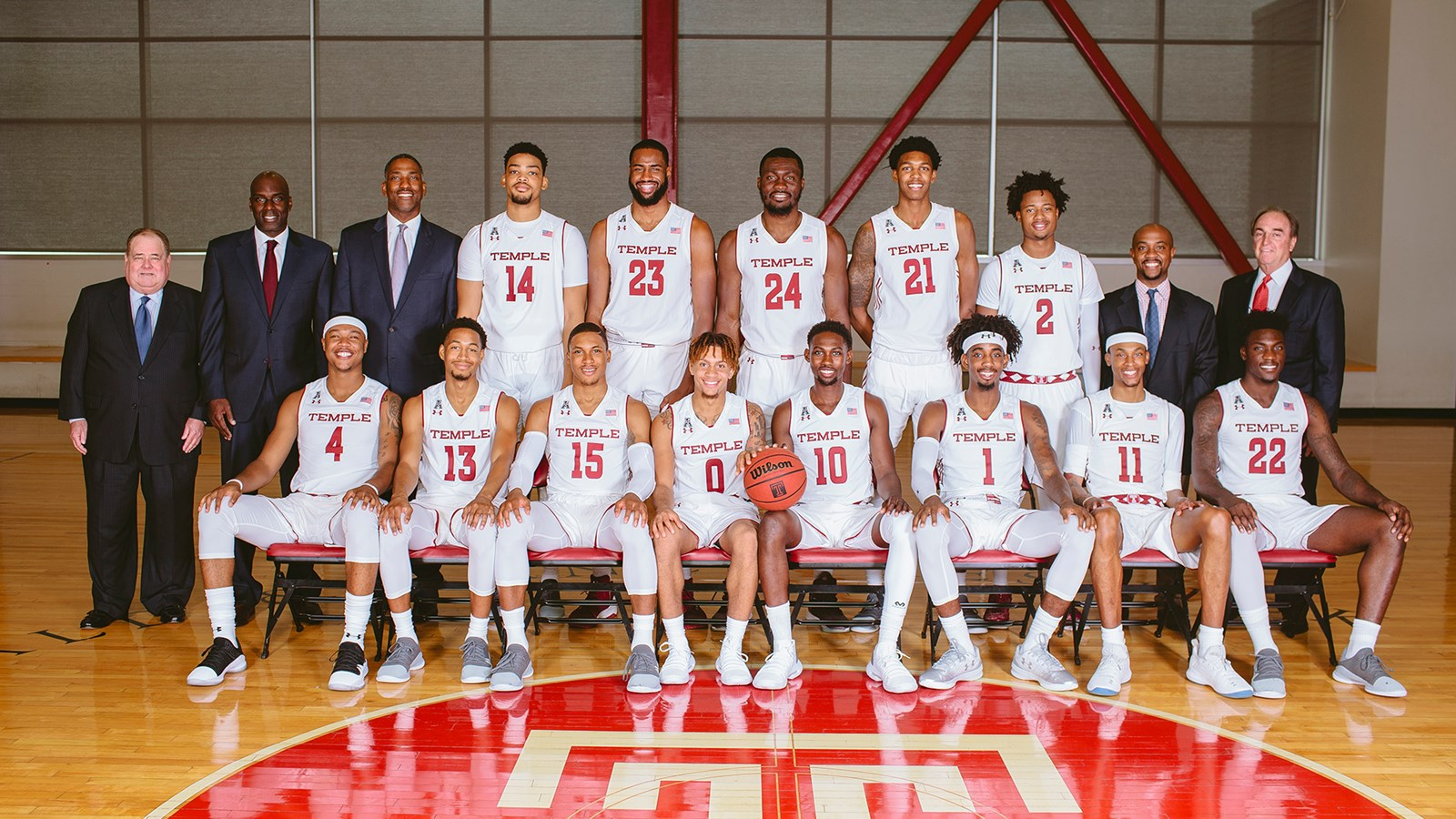 2018 19 men s basketball roster temple university athletics
