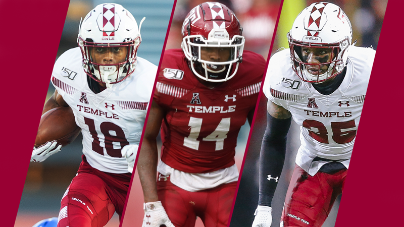 Blue, Braswell and Tyler Earn Single-Digits - Temple University Athletics